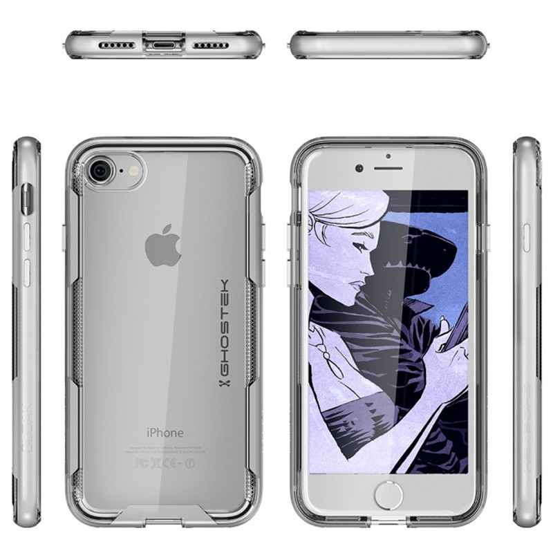 Ghostek - Cloak 3 iPhone 8/7 Hoesje silver/clear 03