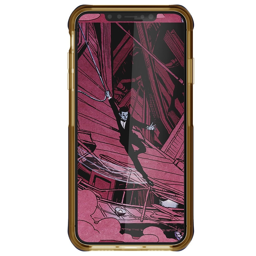 Ghostek Cloak 4 iPhone XS Max Blauw/Goud - 3