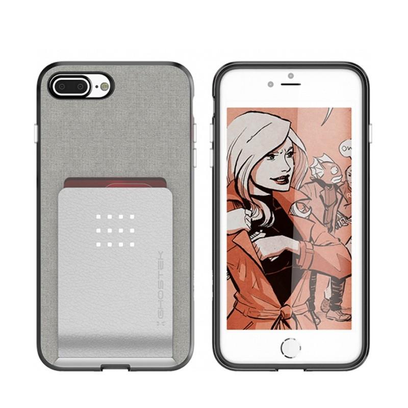 Ghostek Exec 2 Wallet Case iPhone 8 Plus/7 Plus Zilver 03