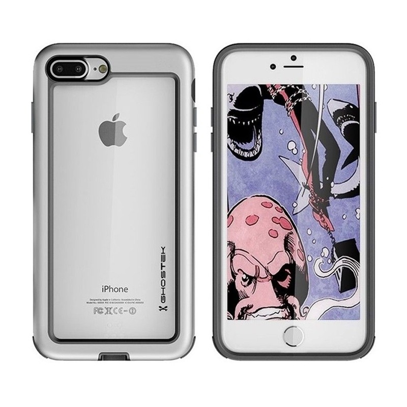 Ghostek - Atomic Slim Case iPhone 8 Plus/7 Plus zilver 03