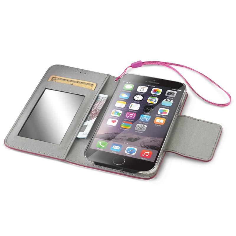 Celly Glitter Agenda iPhone 6 Fuchsia - 3