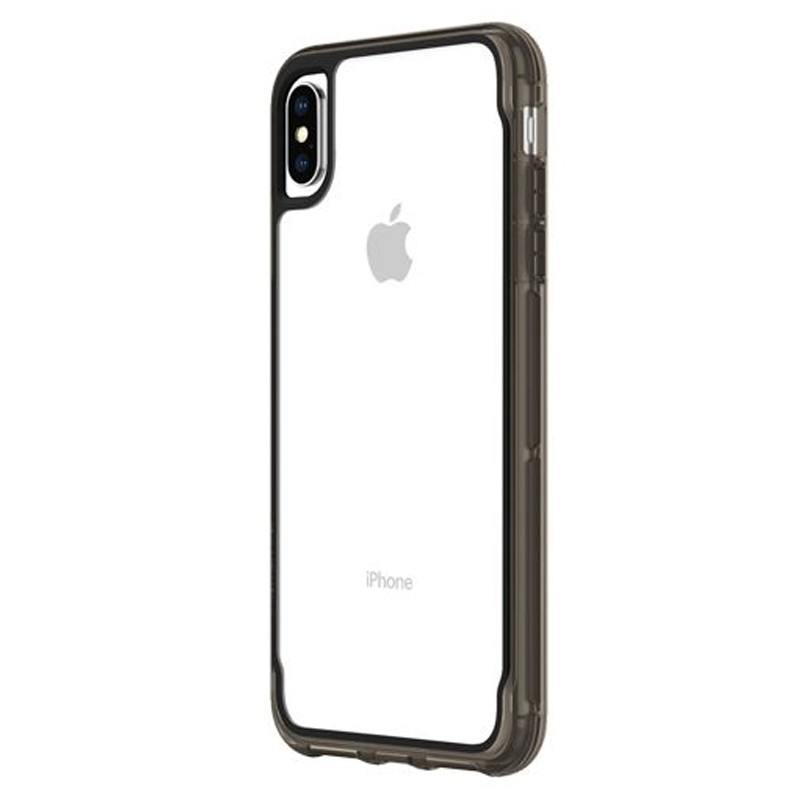 Griffin Survivor Clear iPhone XS Max Hoes Zwart Transparant 03