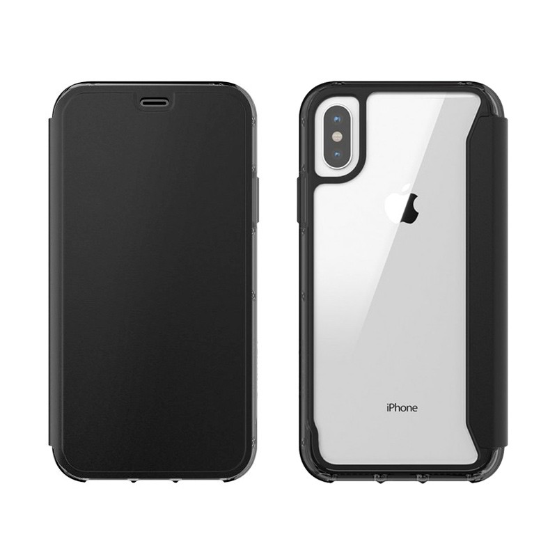 Griffin - Survivor Clear Wallet iPhone X Zwart Transparant 03