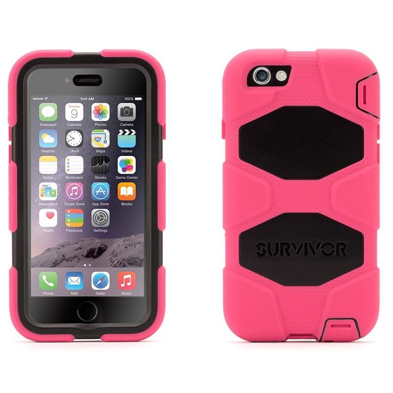 Griffin Survivor Extreme Duty Case iPhone 6 Pink/Black - 3