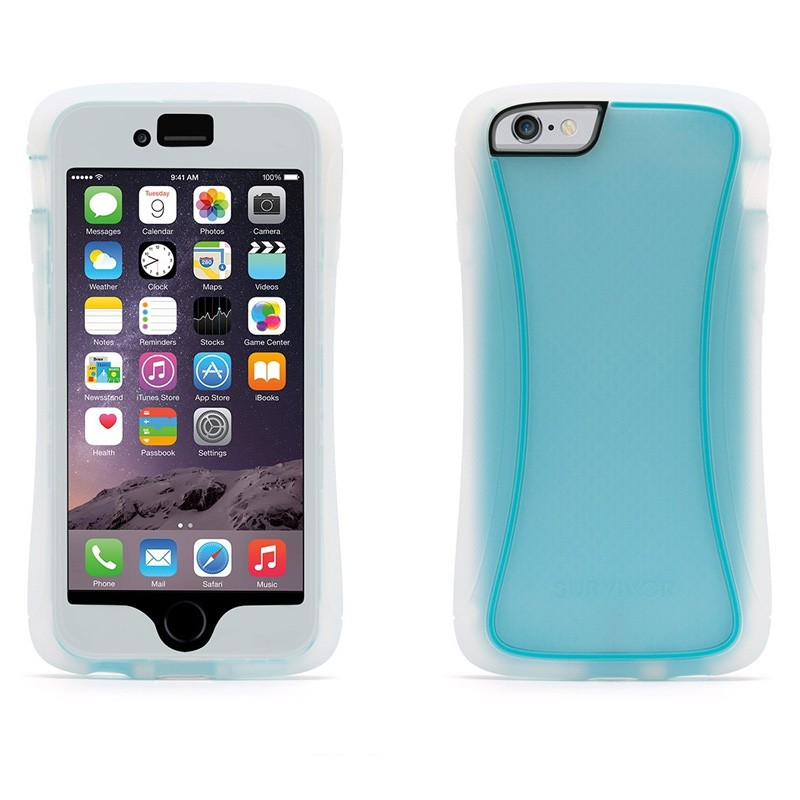 Griffin Survivor Slim iPhone 6 Clear/Blue - 3