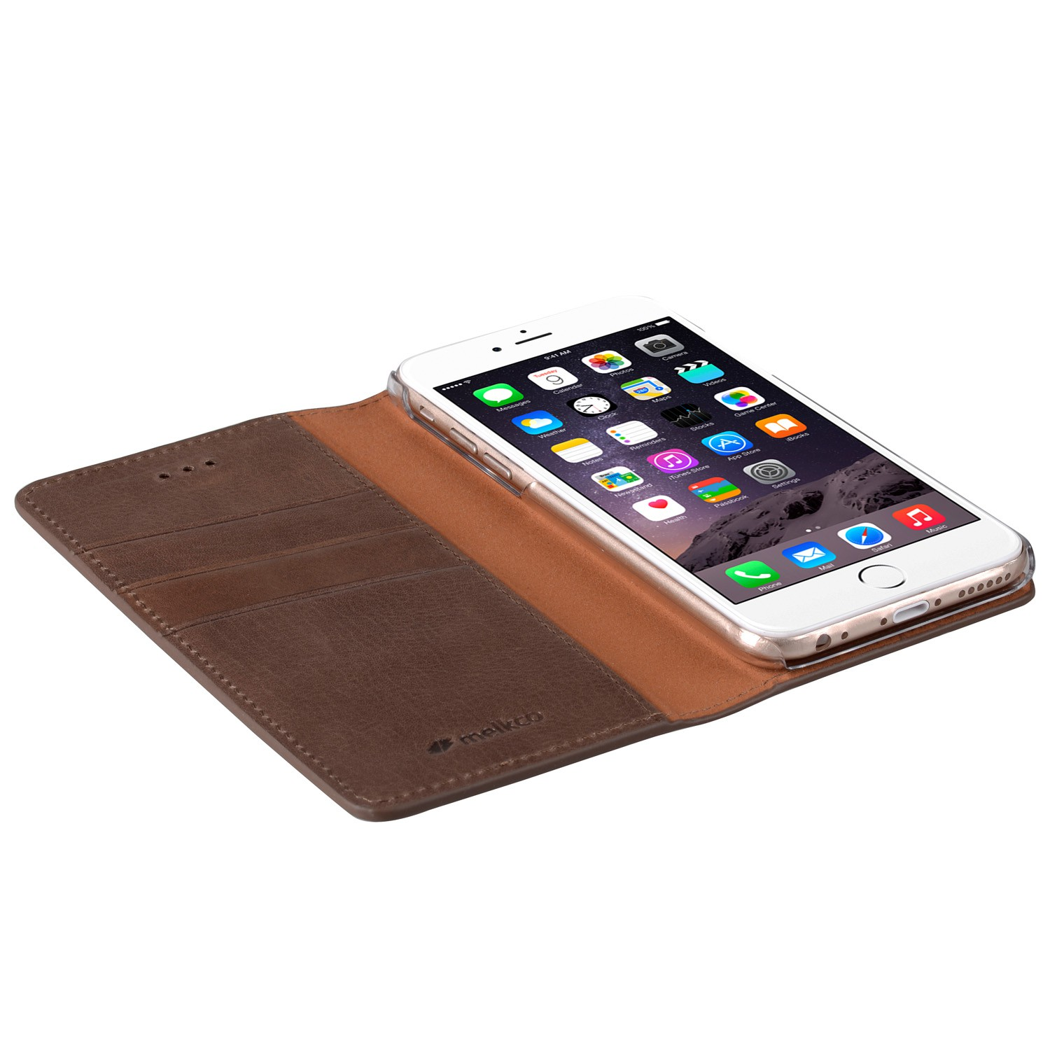Mekco Herman Wallet Case iPhone 6/6S Brown - 3