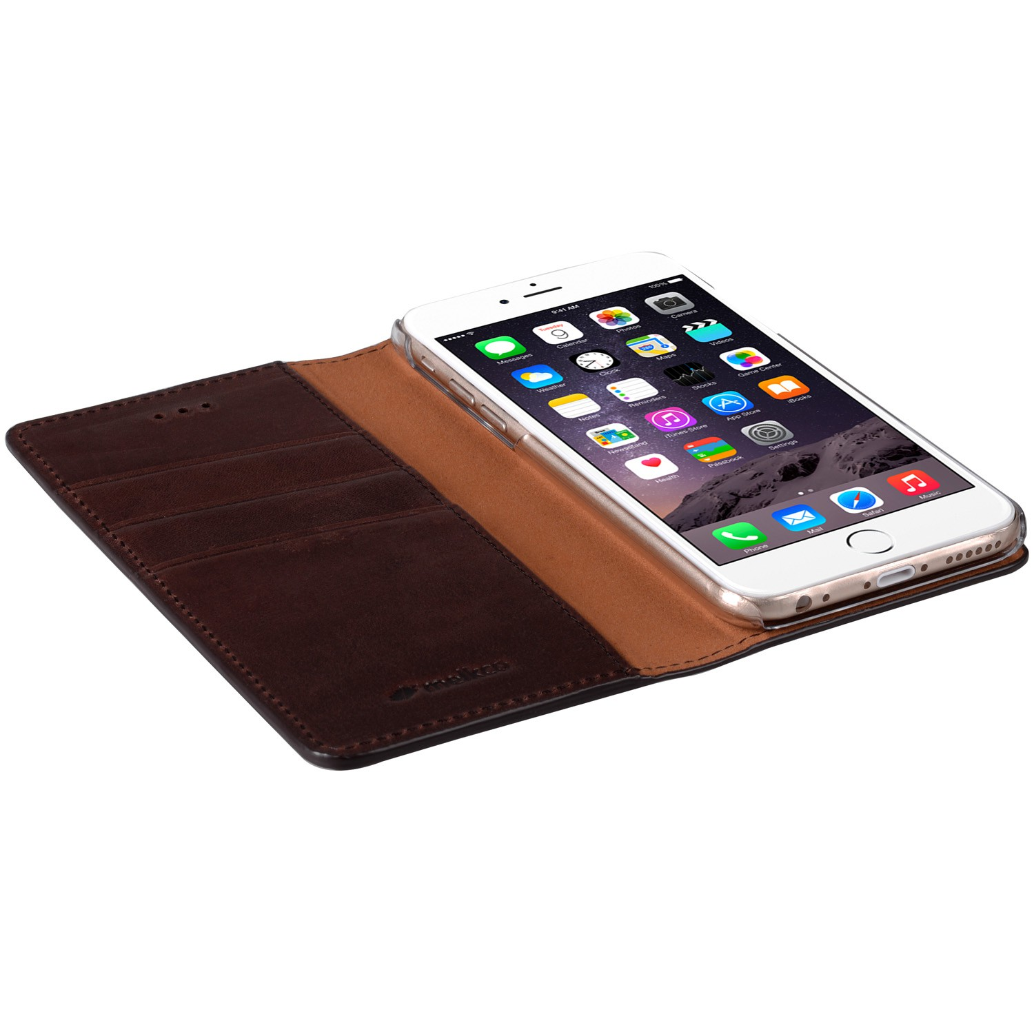 Mekco Herman Wallet Case iPhone 6/6S Dark Brown - 3