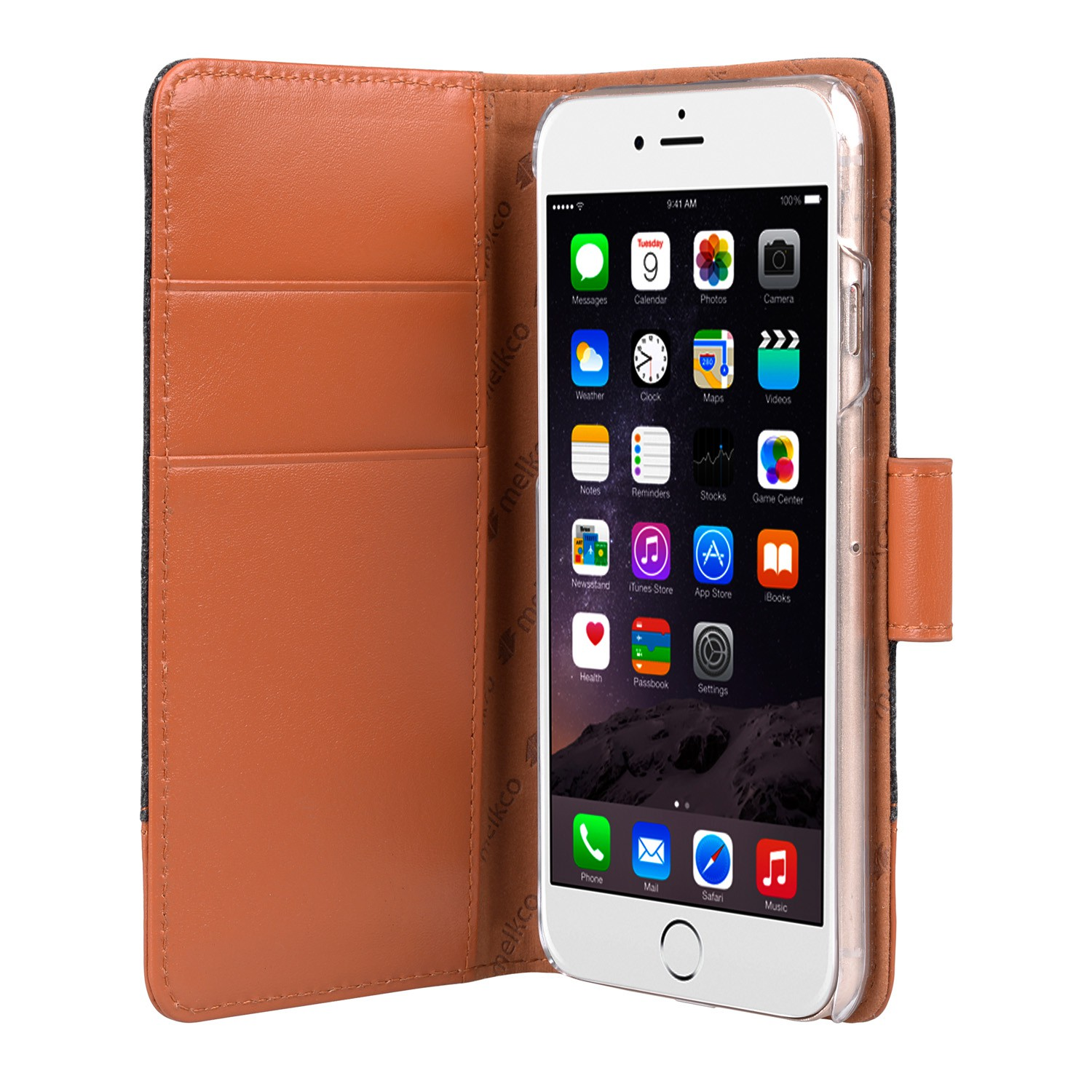 Melkco Holmes Wallet Case iPhone 6/6S Grey/Brown - 3