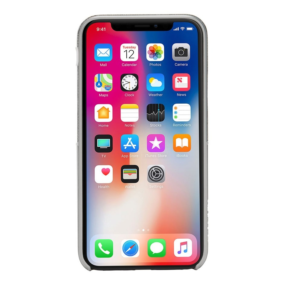 Incase Textured Snap Case iPhone X/Xs Grijs - 3