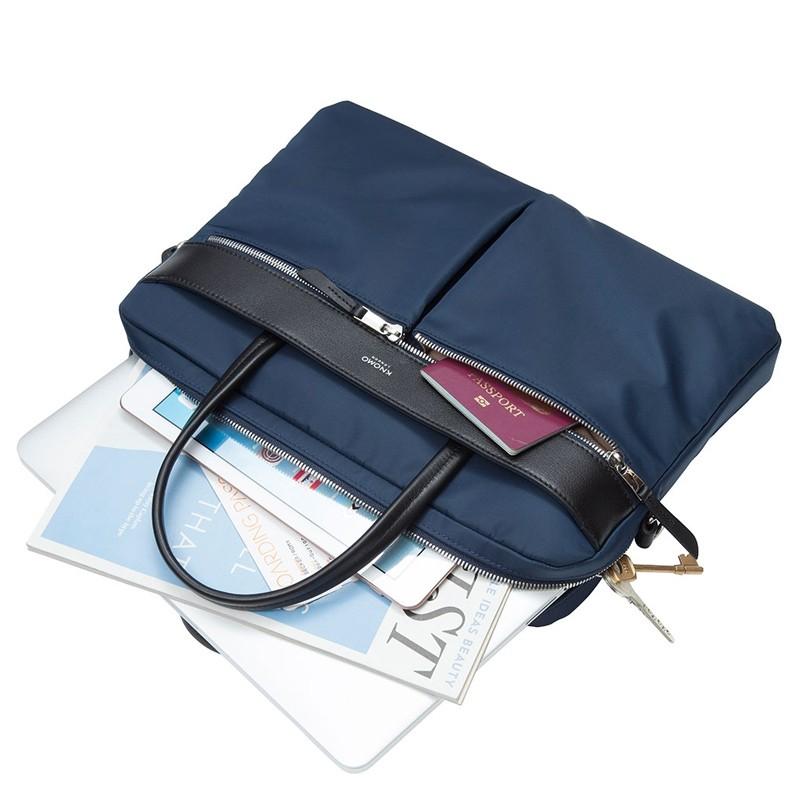 Knomo - Hanover 14 inch Slim Laptop Briefcase Navy Blue 03