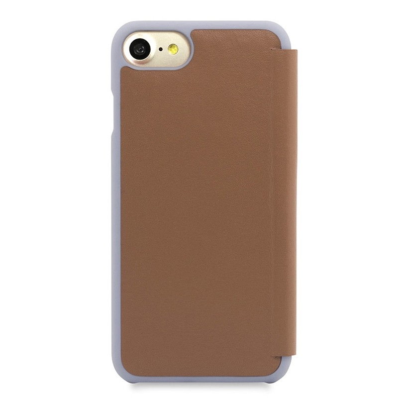 Knomo Leather Folio iPhone 7 Caramel 03