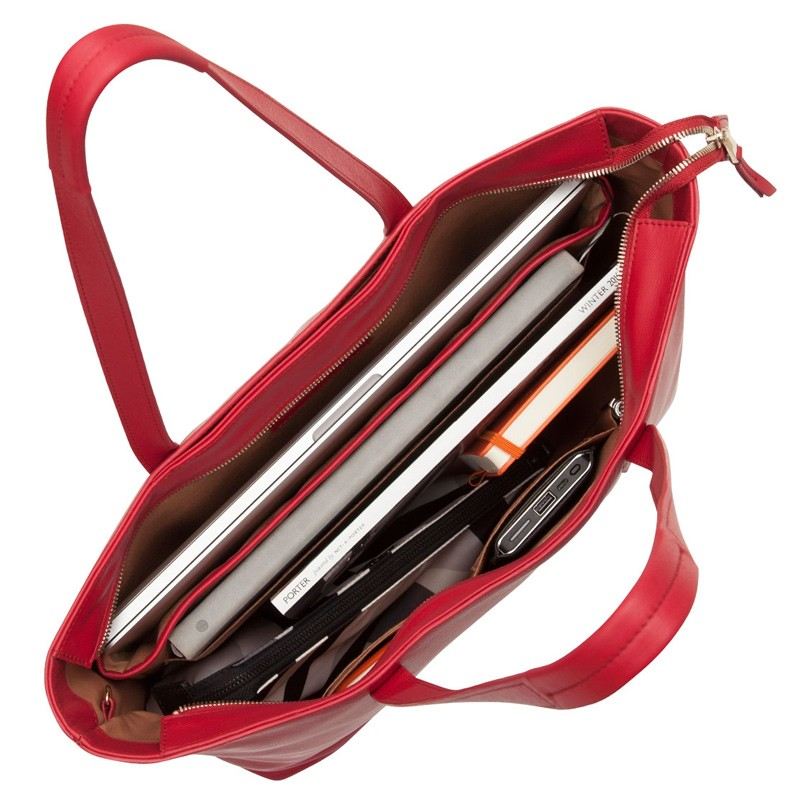 Knomo - Maddox 15 inch Zip Top Laptoptas Red 03