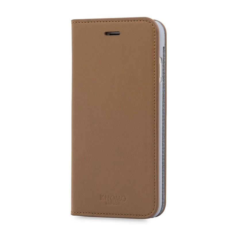 Knomo Premium Leather Folio iPhone 7 Caramel 03