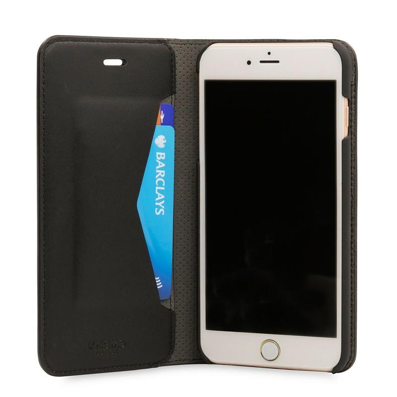 Knomo Premium Leather Folio iPhone 7 Plus Black 03