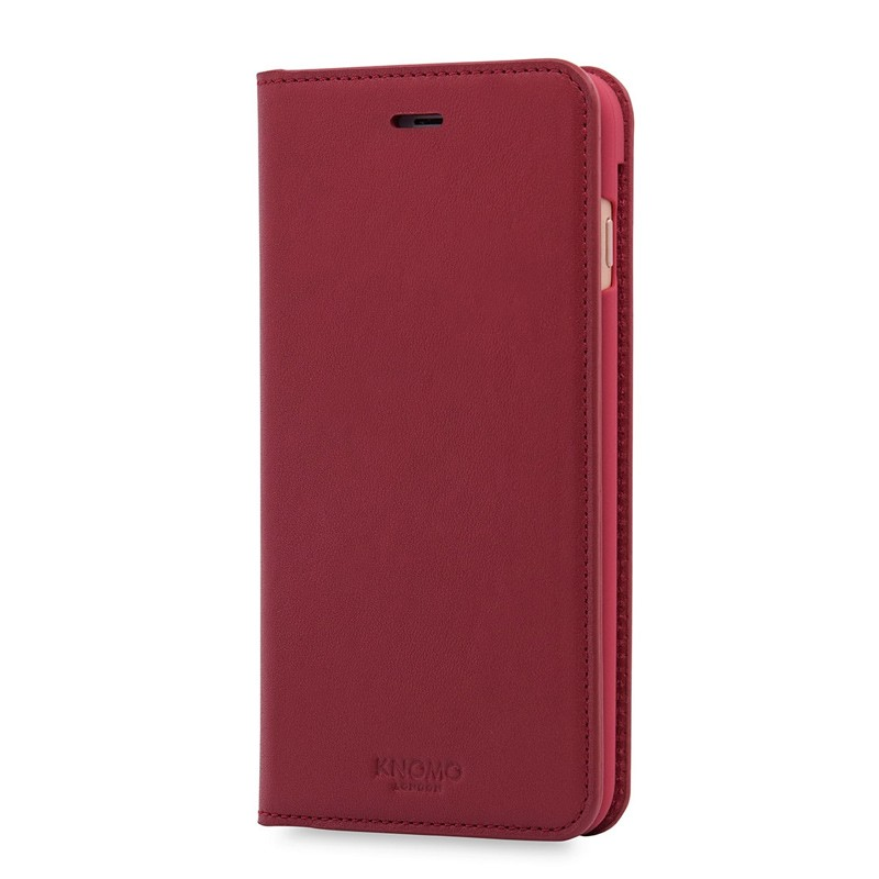 Knomo Premium Leather Folio iPhone 7 Plus Chili 03