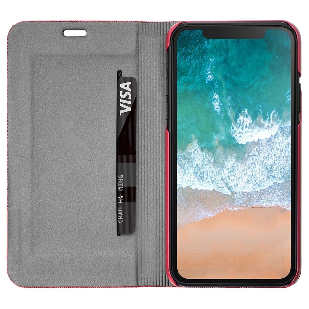 LAUT Apex Knit iPhone X/Xs Wallet Crimson Red - 3