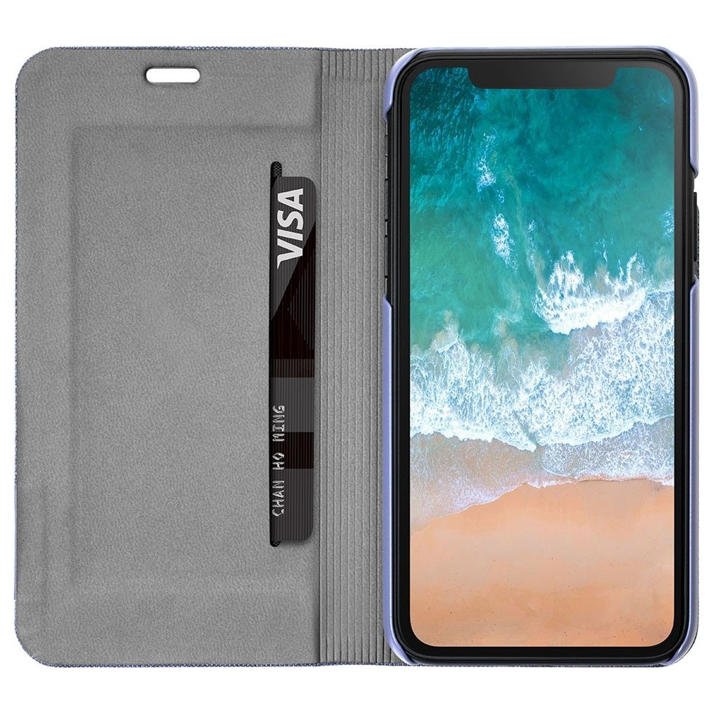 LAUT Apex Knit iPhone X/Xs Wallet Violet Purple - 3