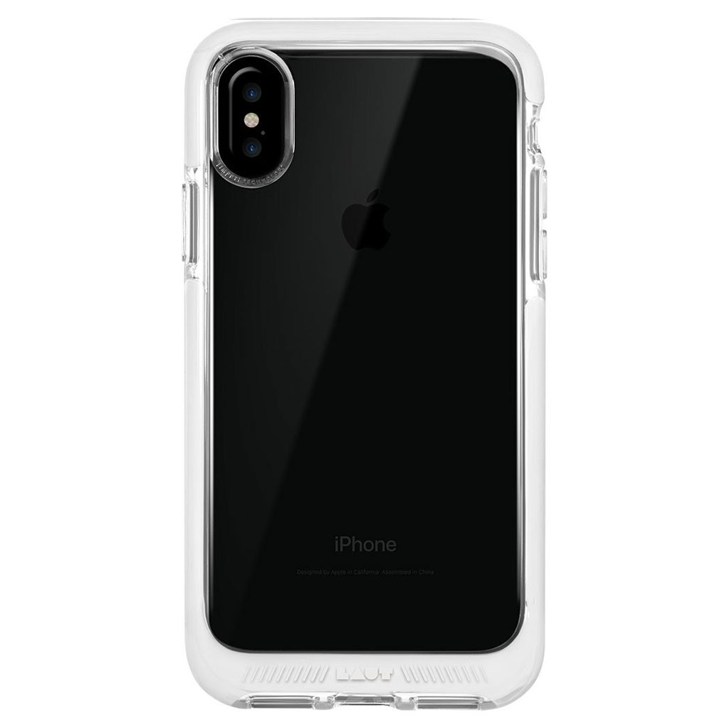 LAUT Fluro IMPKT Case iPhone X White/Clear - 3