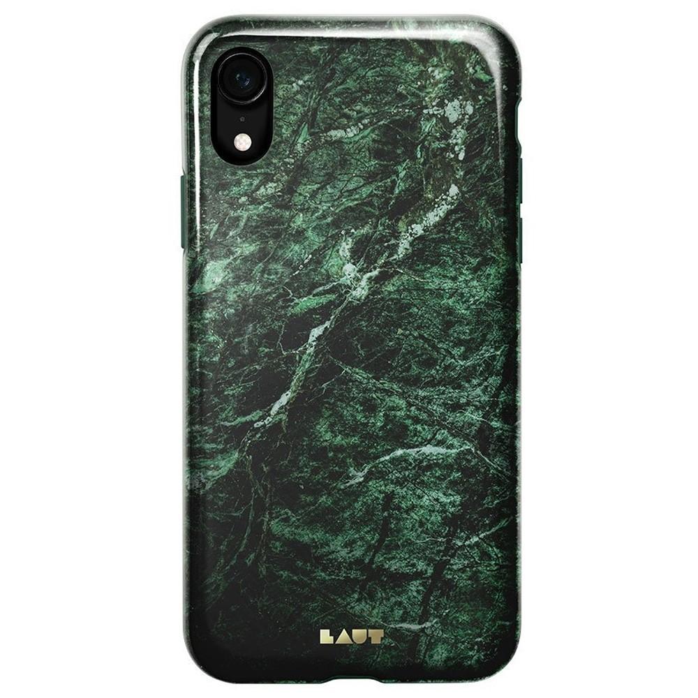 LAUT Huex Elements iPhone XR Hoesje Groen Marmer 03