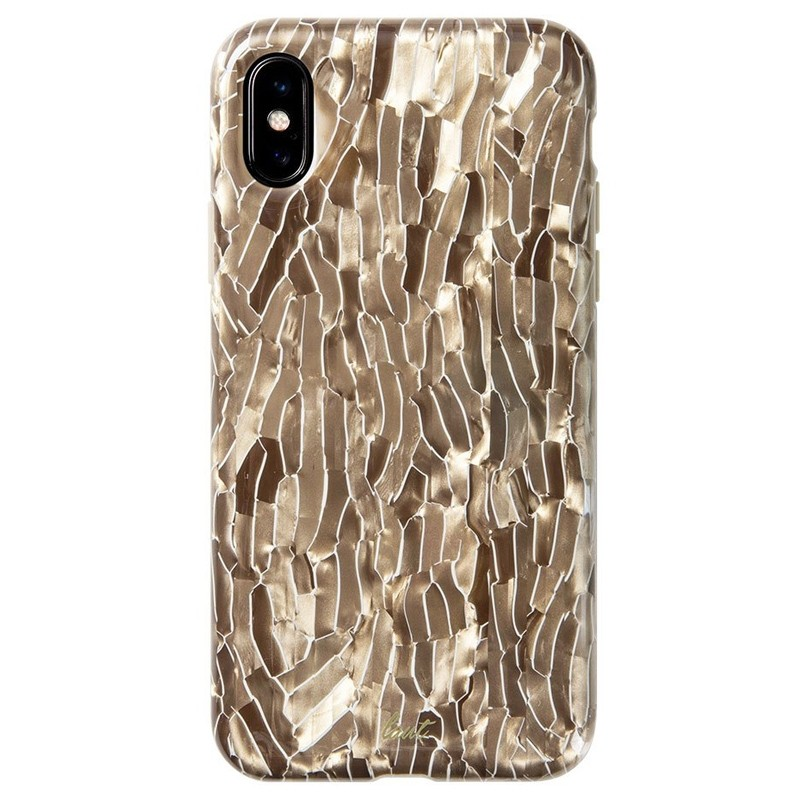 LAUT Pearl Case iPhone XS Max Hoesje Champagne 03