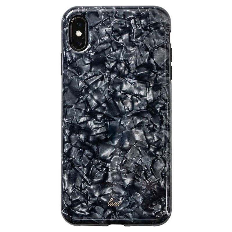 LAUT Pearl Case iPhone XS Max Hoesje Black Pearl 03