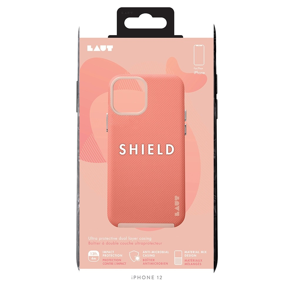 LAUT Shield iPhone 12 / iPhone 12 Pro 6.1 Coral Pink - 3