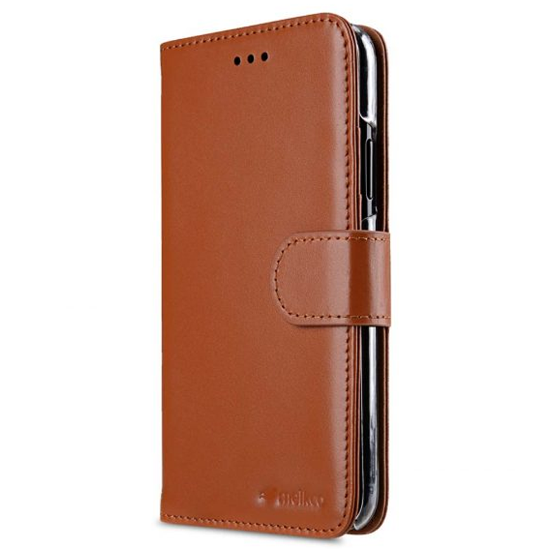 Melkco - Premium Leather Case voor iPhone X / XS Bruin 03