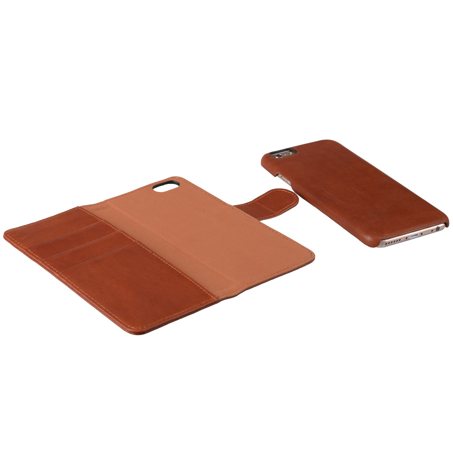 Mekco Alphard Wallet Case iPhone 6/6S Tan Brown - 3