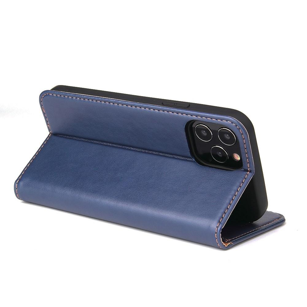 Mobiq Premium Lederen Portemonnee Hoesje iPhone 13 Mini Blauw - 3