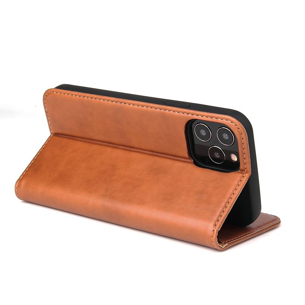 Mobiq Premium Lederen Portemonnee Hoesje iPhone 13 Mini Bruin - 3