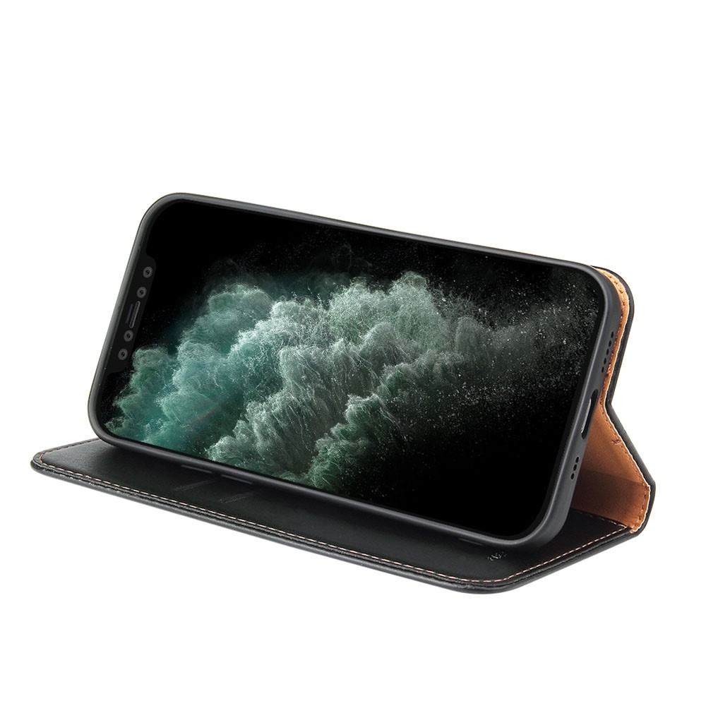 Mobiq Premium Lederen Portemonnee Hoesje iPhone 13 Mini Zwart - 3