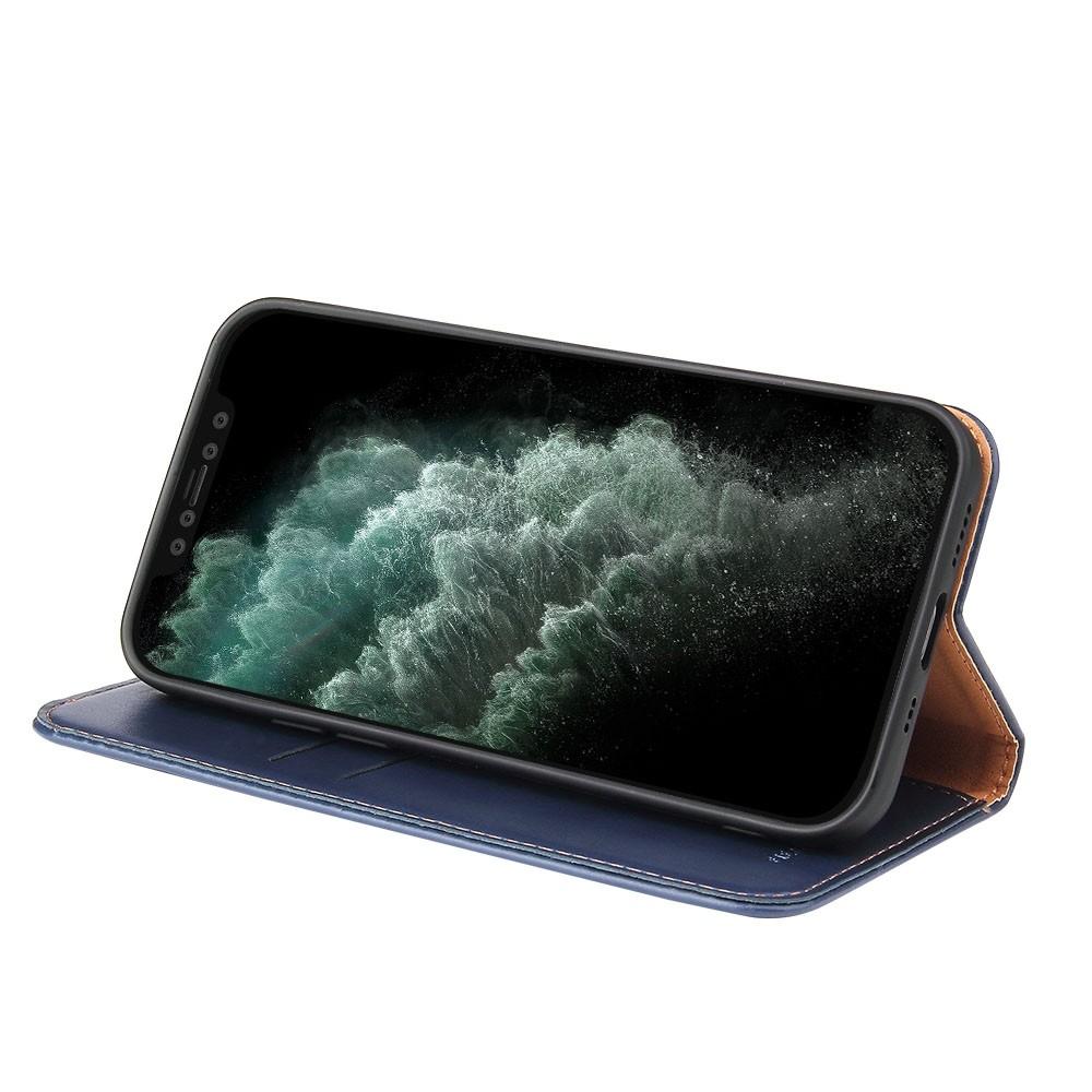 Mobiq Premium Lederen Portemonnee Hoesje iPhone 13 Pro Blauw - 3