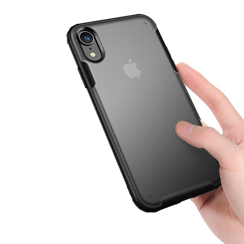Mobiq - Clear Hybrid Case iPhone XR Blauw - 3