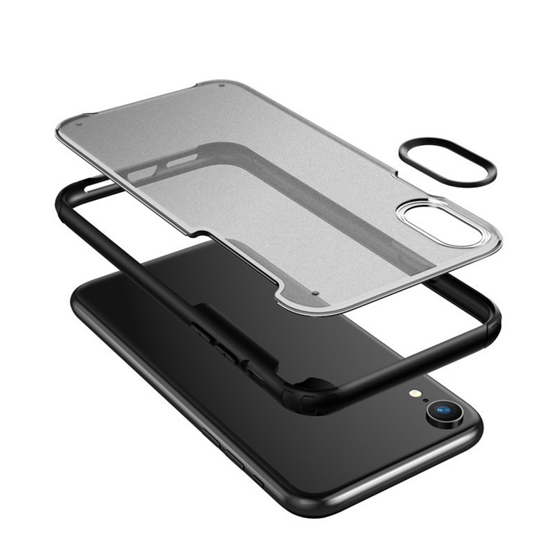 Mobiq - Clear Hybrid Case iPhone XR Zwart - 3