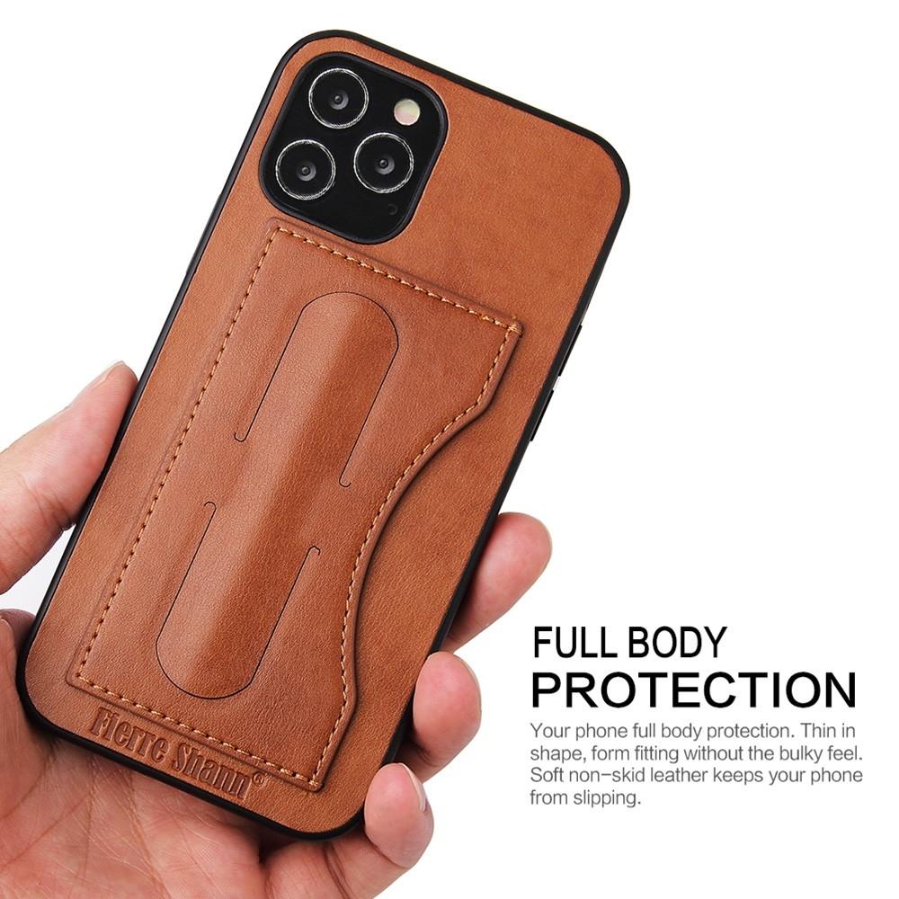 Mobiq Leather Click Stand Case iPhone 12 6.1 Bruin - 3