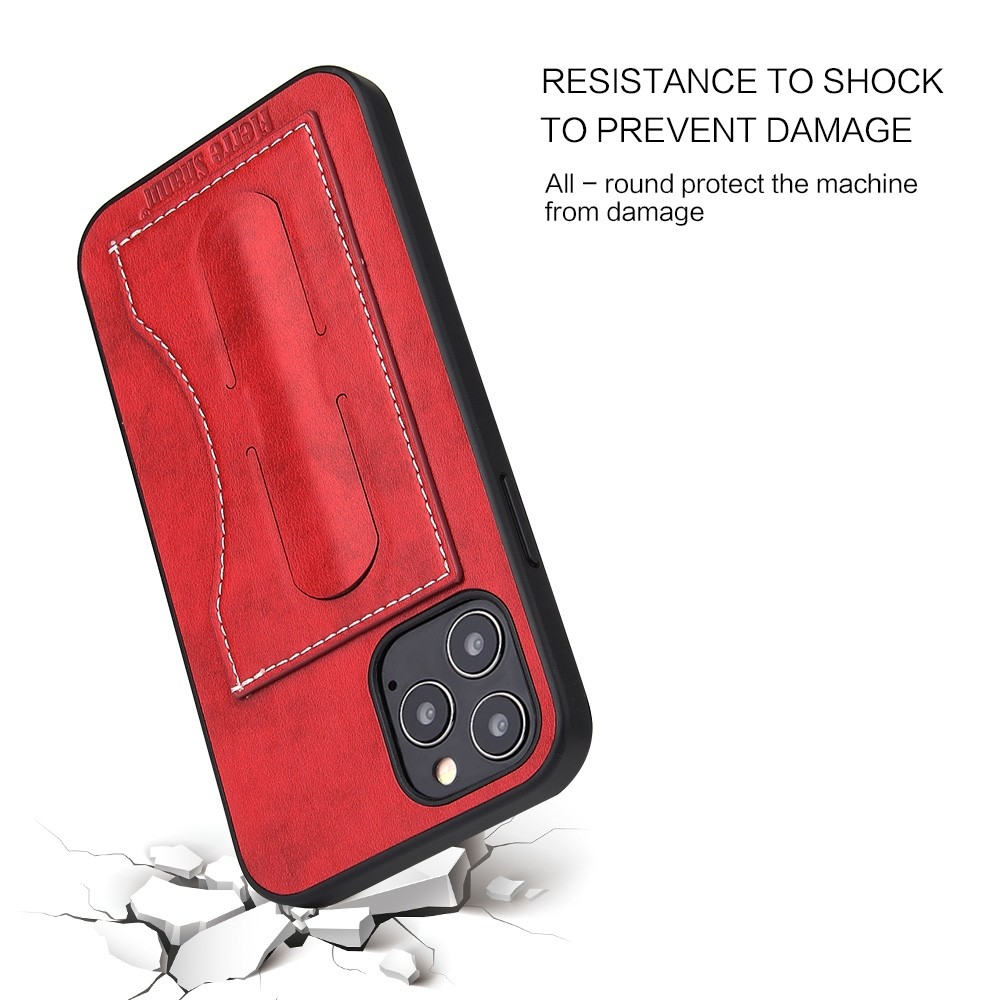 Mobiq Leather Click Stand Case iPhone 12 6.1 Rood - 3