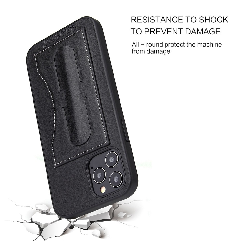 Mobiq Leather Click Stand Case iPhone 12 Pro Max Zwart - 3
