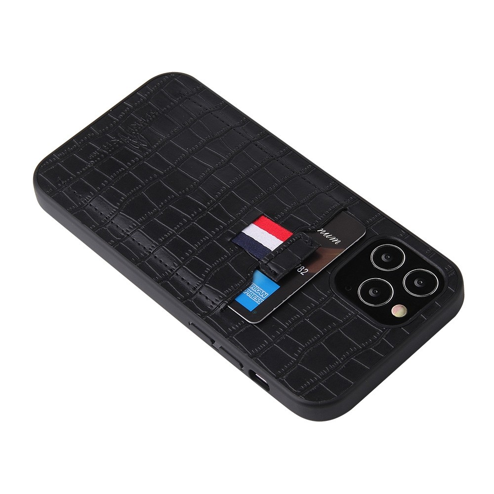 Mobiq Croco Wallet Back Cover iPhone 12 6.1 Zwart - 3