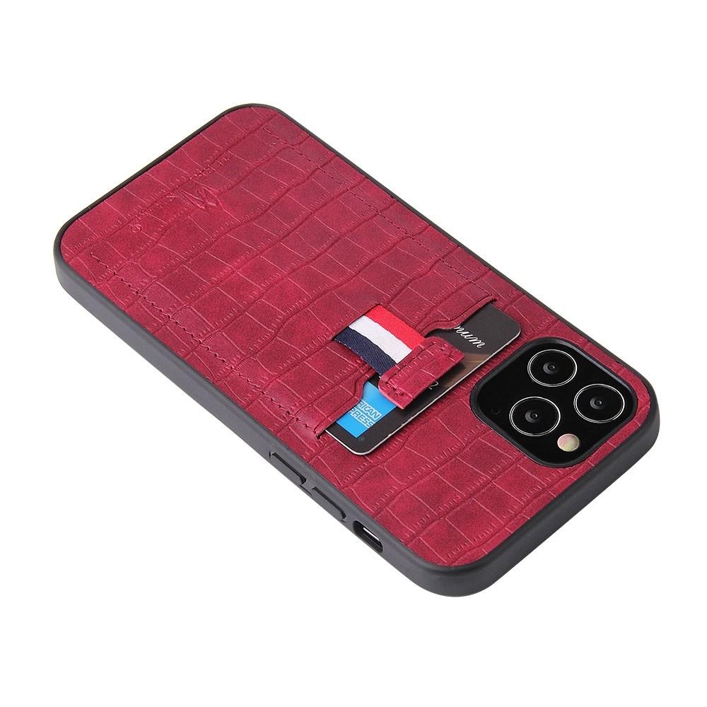 Mobiq Croco Wallet Back Cover iPhone 12 Mini Rood - 3