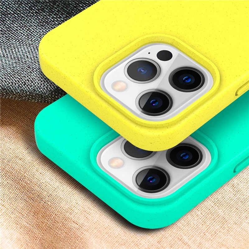 Mobiq Flexibel Eco Hoesje TPU iPhone 13 Mini Geel - 3