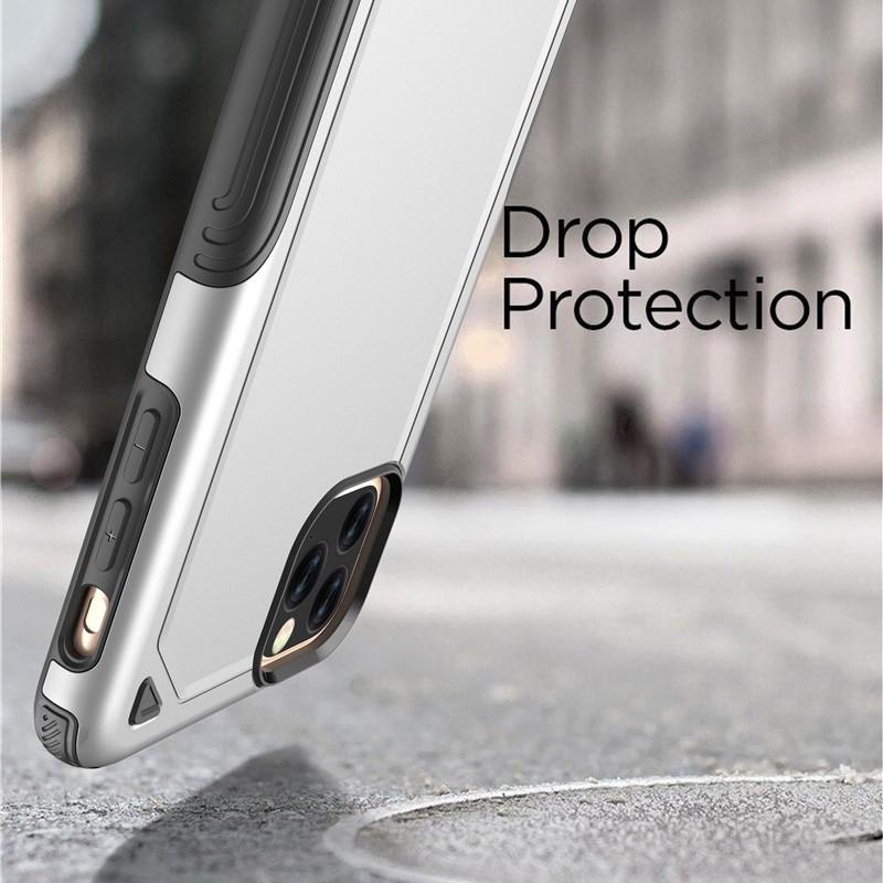 Mobiq extra beschermend iPhone 11 Pro Max hoesje zilver - 3