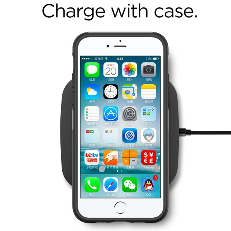 Mobiq Extra Stevig Hoesje iPhone SE (2020)/8/7 Zilver - 3