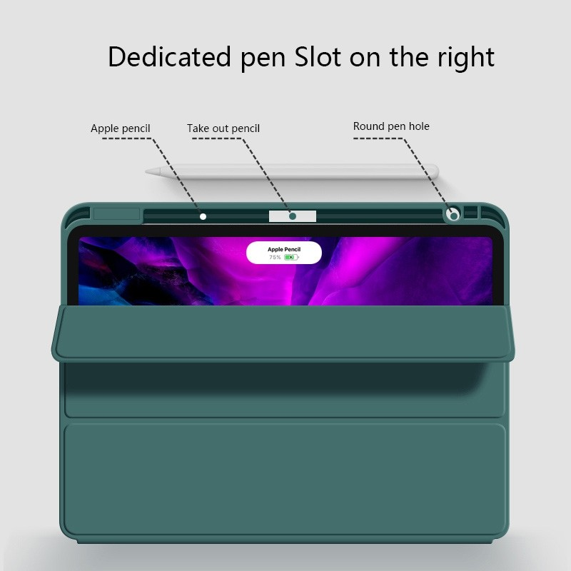 Mobiq Flexibele Trifold Folio Hoes iPad Pro 11 (2021) Grijs - 3