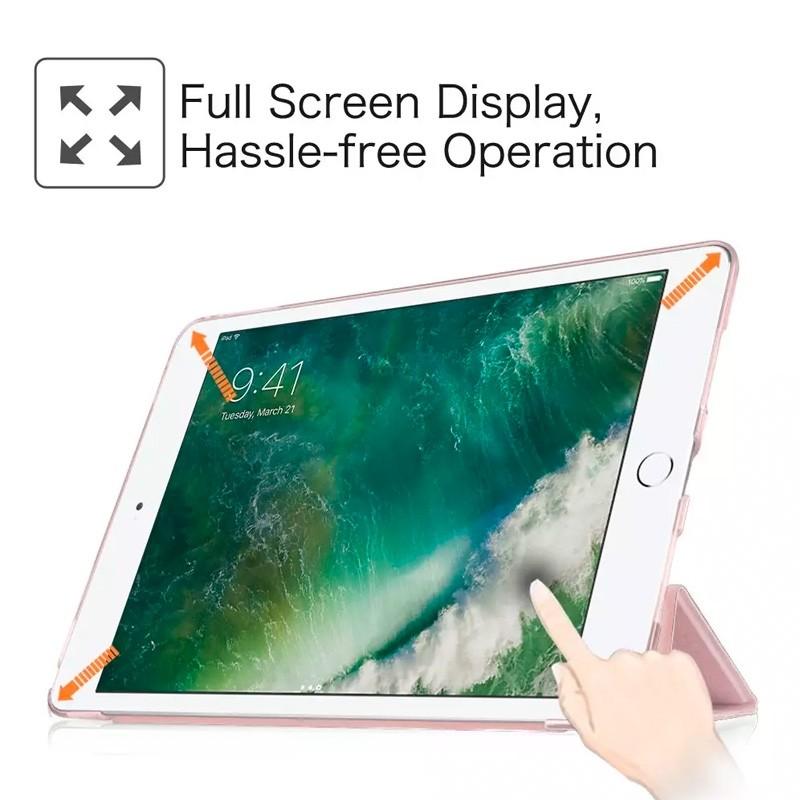Mobiq Trifold Folio Hard Case iPad 10.2 (2020/2019) Rood - 3