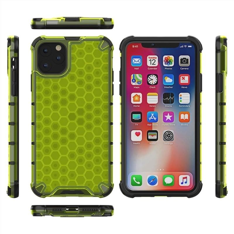 Mobiq honingraat armor hoesje iPhone 11 Pro geel - 3