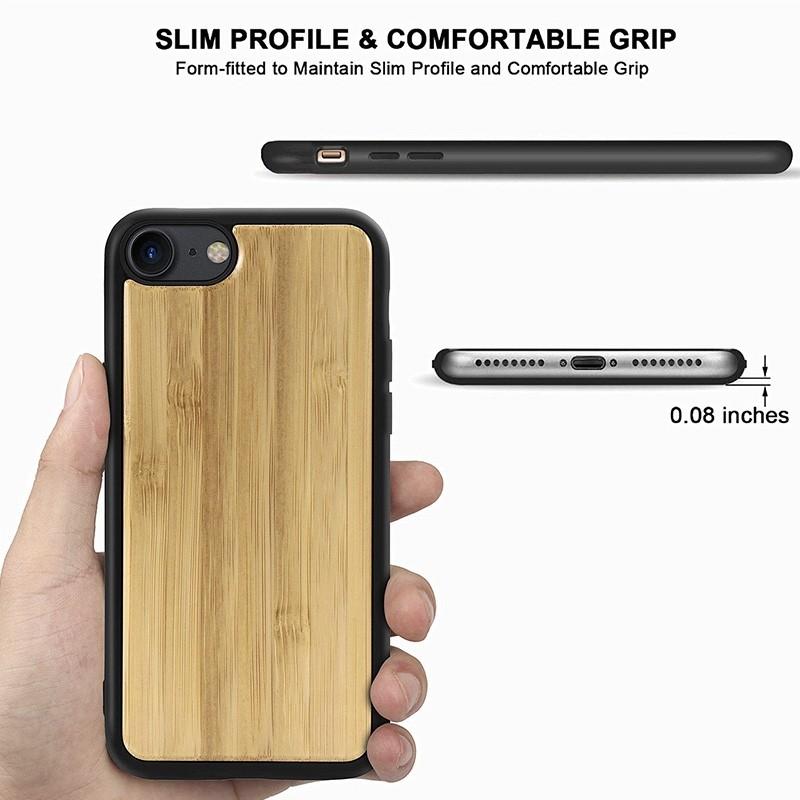 Mobiq Houten Hoesje iPhone SE (2020)/8/7 Bamboe - 3