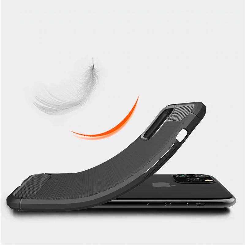 Mobiq Hybrid Carbon TPU Hoesje iPhone 11 Pro Blauw - 3