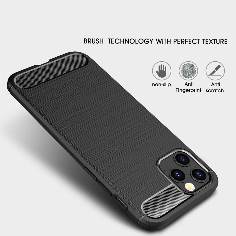 Mobiq Hybrid Carbon Hoesje TPU iPhone 13 Pro Max Rood - 3