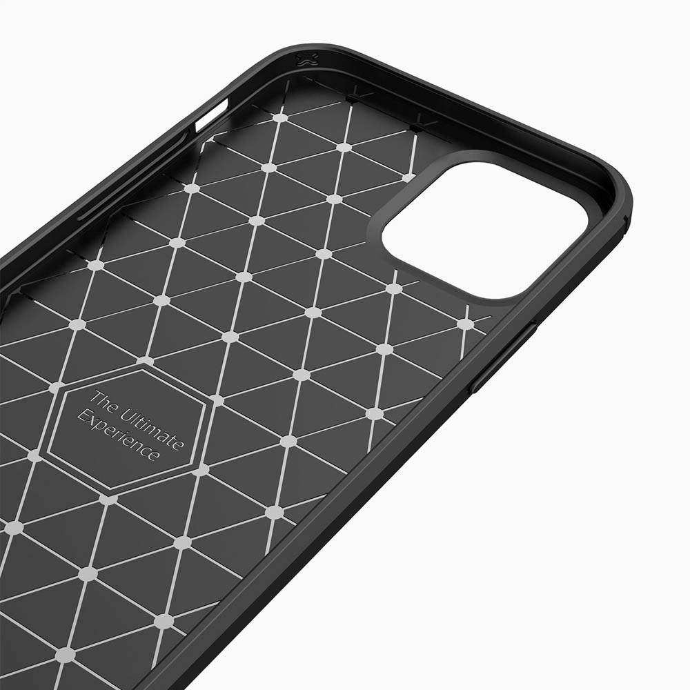 Mobiq Hybrid Carbon Hoesje TPU iPhone 13 Pro Blauw - 3