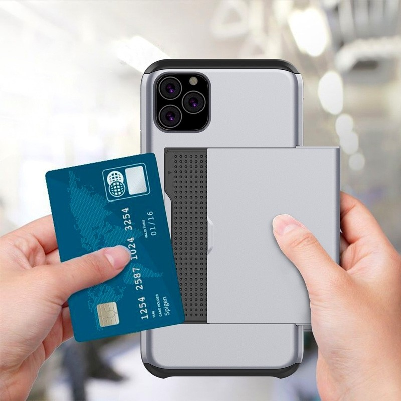 Mobiq Hybrid Card Case iPhone 11 Pro Goud - 3